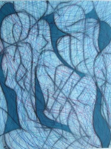 "Saatchi Art Artist Kevin Jones; Drawing, ""Blue Spaces No.15"" #art"