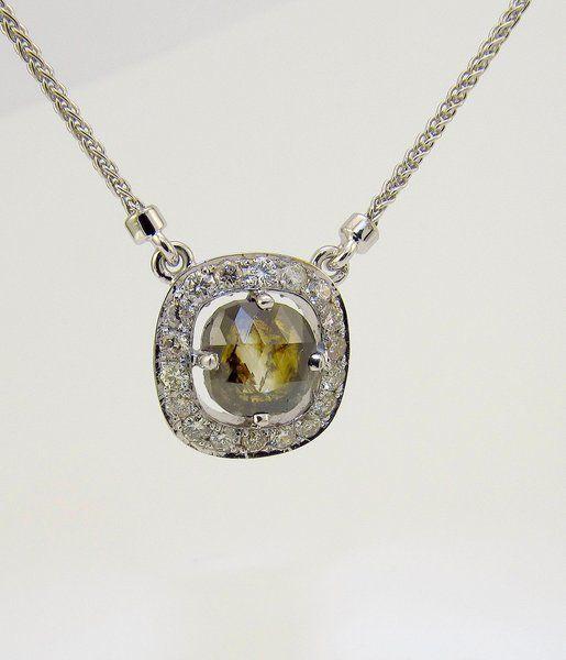 Custom Created Diamond and Gemstone Pendants for a Necklace