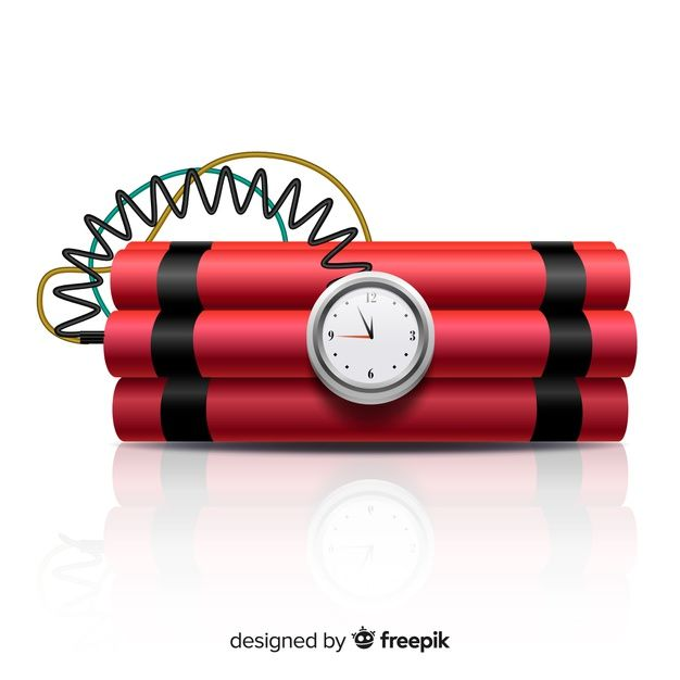 Download Red Time Bomb Realistic Style For Free In 2020 Realistic Vector Photo Vector Free