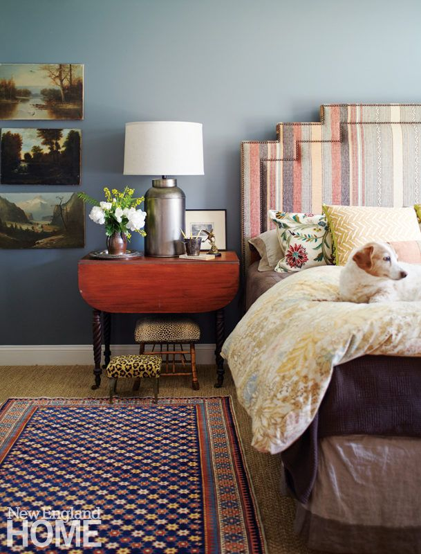 Layers Of Pattern And Rich Colors Help To Create A Cozy Master Bedroom Retreat
