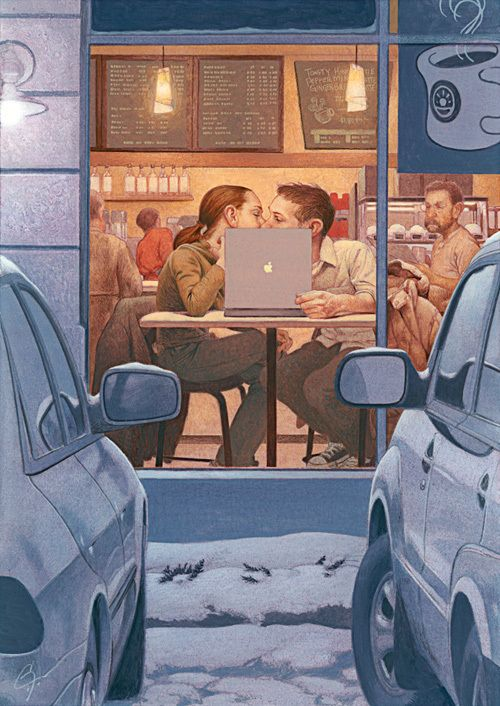 A set of images which depict the affect of technology on us. #technology #society
