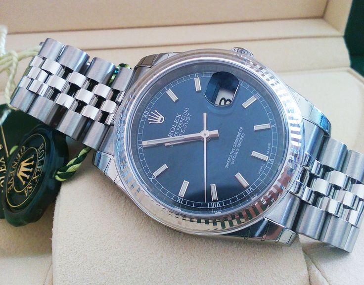 #Rolex #Datejust_II 116234 Blue dial #swisswatchdealers