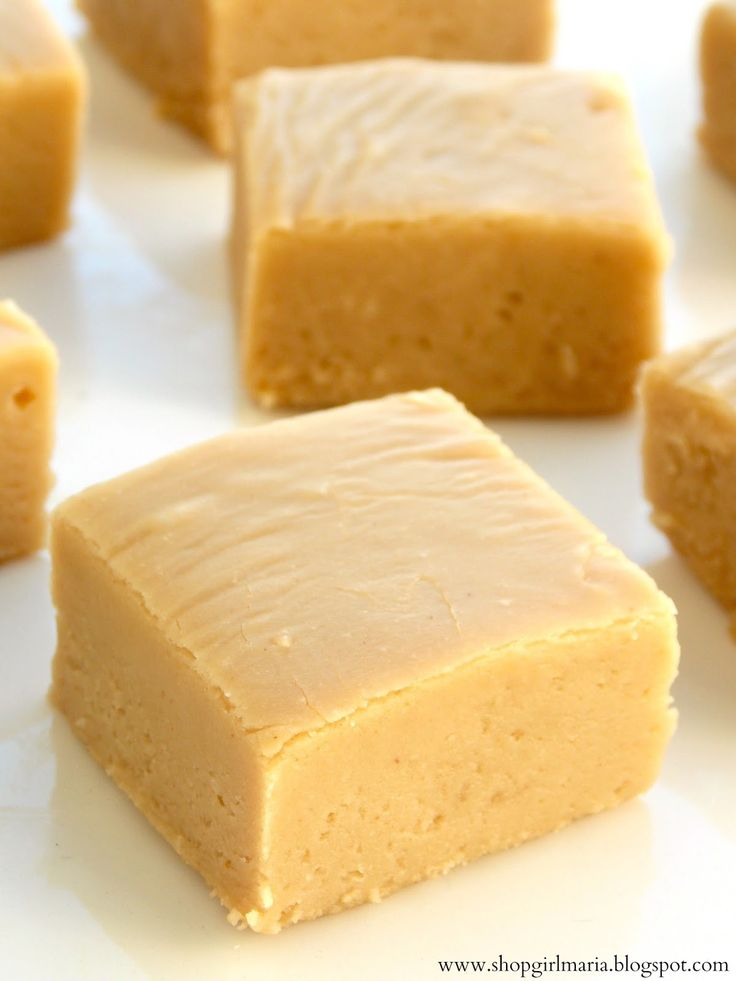 Peanut Butter Fudge 2nd recipe:  EASY Peanut Butter FUDGE Oh my this is easy and delicious!  Ingredients: 2 cups sugar 1/2 cup of milk 1 tsp. vanilla 3/4 cup Peanut Butter  Directions Bring Sugar and Milk to a boil Boil for 2 1/2 minutes Remove from heat and stir in the PB and Vanilla. That's it! So simple!