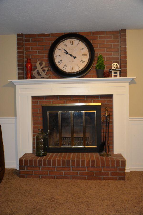 DIY-fireplace | theidearoom.net    Basement fireplace makeover