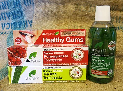 Dr Organic tandkräm och munskölj