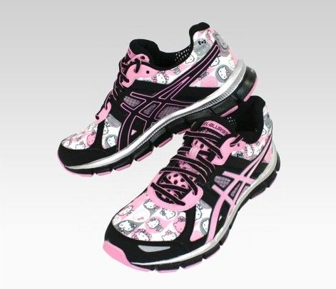 I need a good pair of walking/workout shoes anyway, why not Hello Kitty ones?! =) 2011 Holiday Edition... they have the whole workout gear to match too, oh no! LOL!