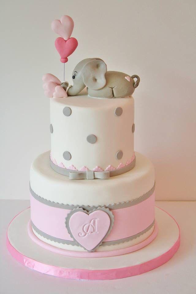 Elefante y globos rosa