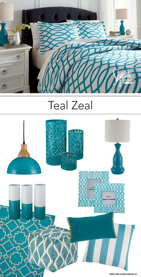 Room Color Ideas For Teenage Girls: Teal Turquoise Bedroom Bedding And Accessories
