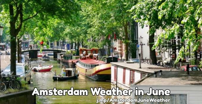 Amsterdam weather in the month of June: average temperatures, amount of rainfall, and tips on what to wear.