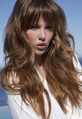 Capelli lunghi mossi - Tagli capelli estate 2009