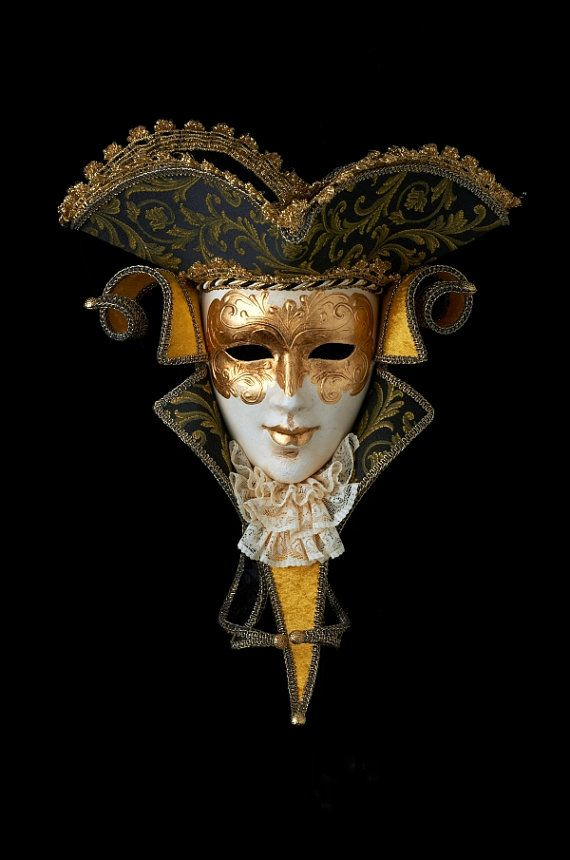 Venetian Mask  Casanova with Lace by OriginalVeniceShop on Etsy