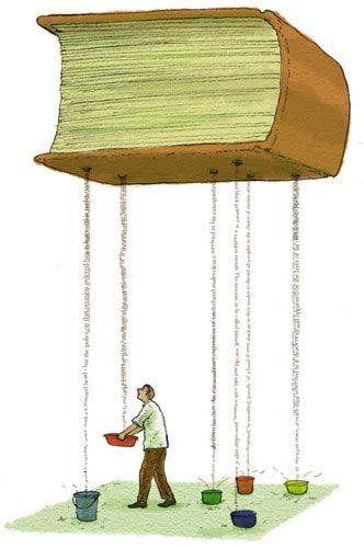 Las goteras de los libros son palabras sueltas, que quedan en el aire para que el lector se las lleve consigo.