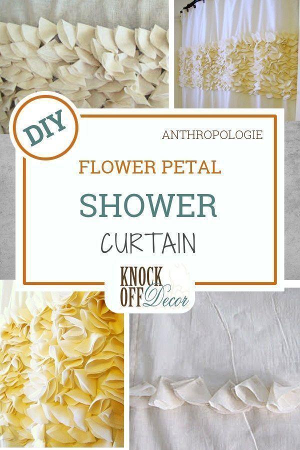 Flower Petal Shower Curtain In 2020 Anthropologie Diy Diy