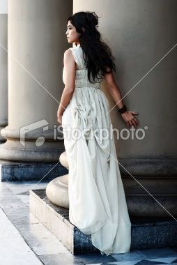 stock photo dress & columns (Principessa Annalisia)
