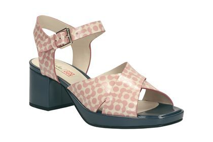 Womens Smart Sandals - Orla Blanche in Pink Floral from Clarks shoes