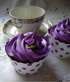 Purple cup cakes