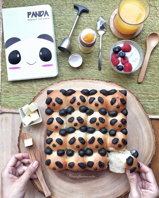 Honey Bee Sweets: Panda Buns (Cheddar and Cream Bread Recipe)