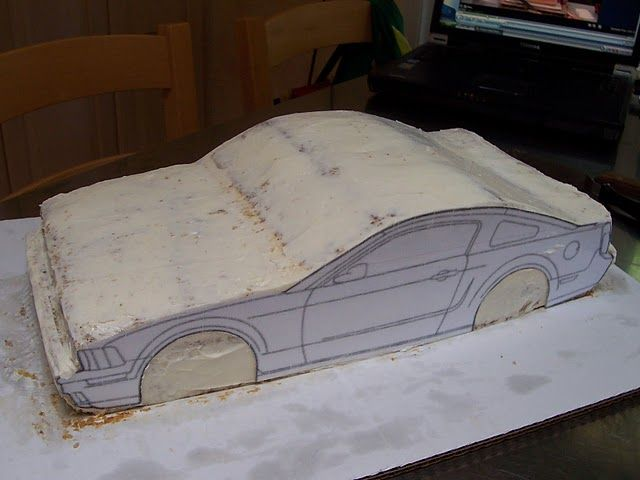 Mustang Bullit Car Cake Tutorial