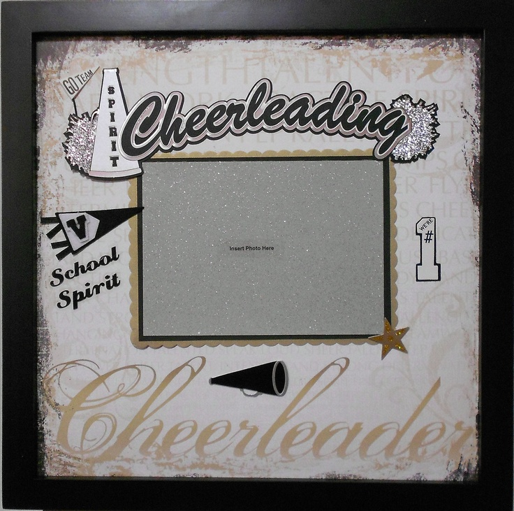 Cheerleading Scrapbook Page (Frame Sold Separately). $15.00, via Etsy.