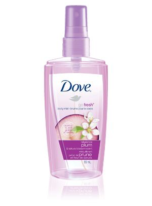 Feel refreshed anytime, anywhere with Dove® go fresh® rebalance™ Body Mist. #scent #perfume   #sweat #spray