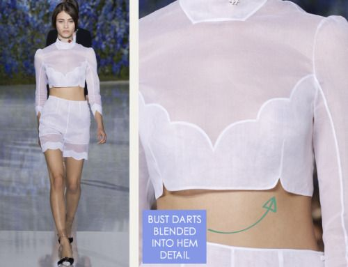 Bust darts blended into hems | The Cutting Class. Christian Dior, SS16, Paris.