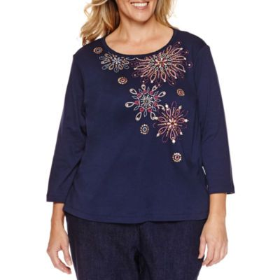 FREE SHIPPING AVAILABLE! Buy Alfred Dunner Sierra Madre Flower T-Shirt- Plus at JCPenney.com today and enjoy great savings.