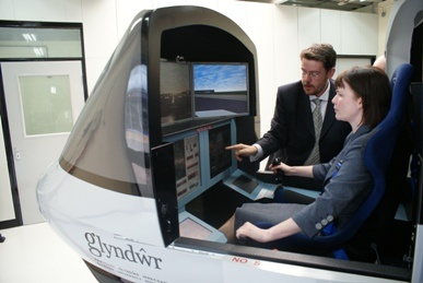 How cool is this? Shot of the flight simulator at Glyndwr University, Wrexham.