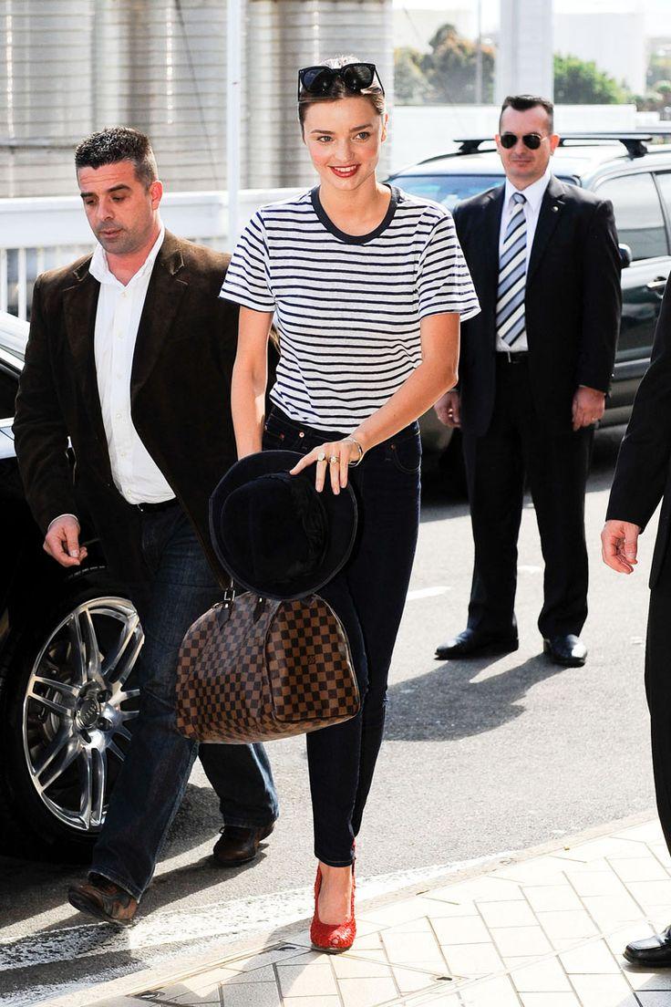 la colección de bolsos de Miranda Kerr: Speedy de Louis Vuitton