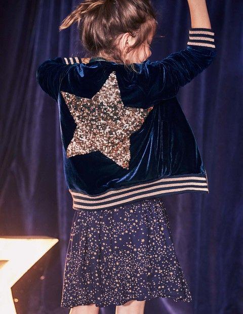Star Bomber Jacket & Winter Printed Skirt   Mini Boden