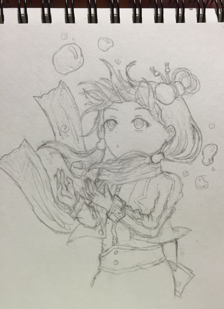 Tried an underwater-ish drawing
