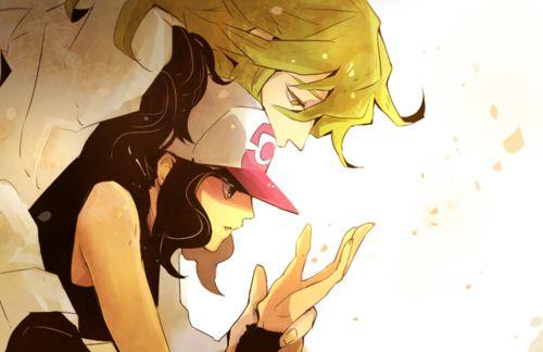 """N and Hilda"" <3  #PokemonBW #Ferriswheelshipping"