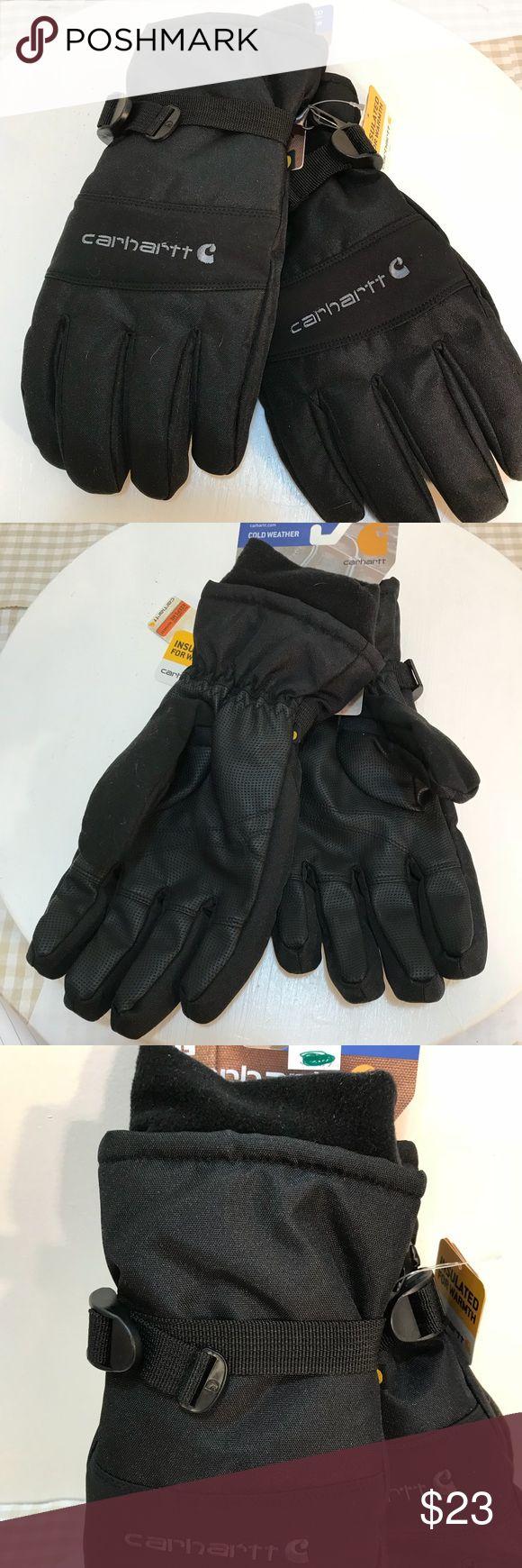 Carhartt A511 Mens Waterproof Gloves Lg Warmest level men's insulated waterproof gloves in black sweat wicking inside lining Carhartt Other