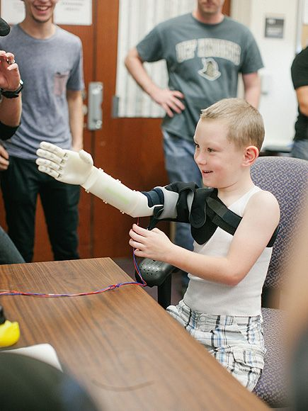 See This 6-Year-Old Boy Hug His Mom for the First Time, Thanks to His New 3-D-Printed Robot Arm| Science and Technology, Real People Stories...