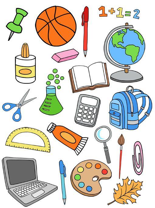 Grafika átlátszó háttérrel - tanszerek, iskolai