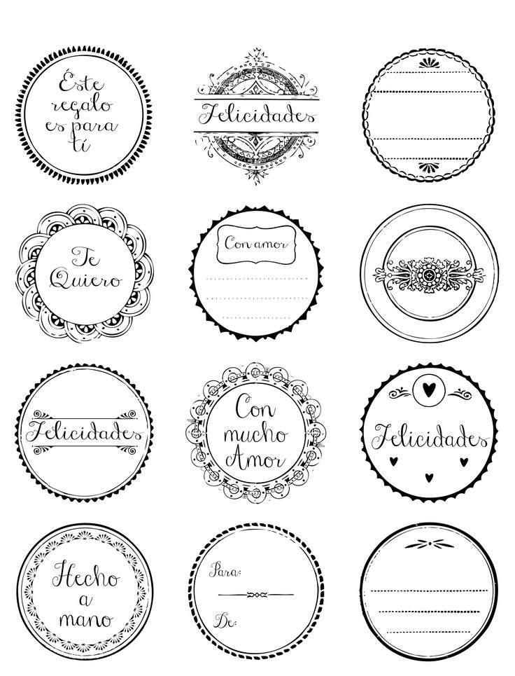 Etiquetas para regalos #free #printable #imprimible #gratis #etiquetas