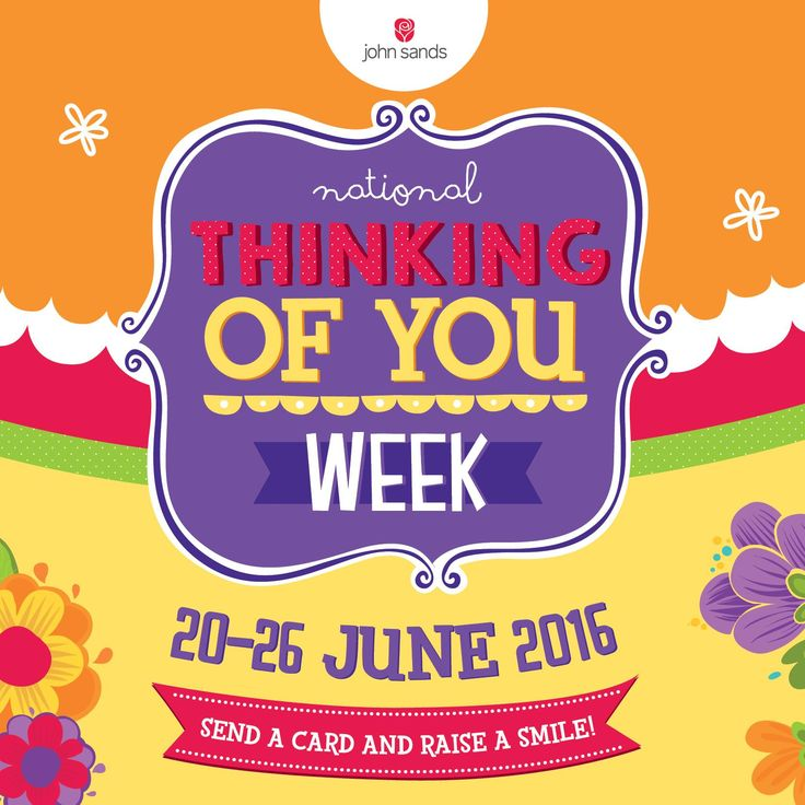 Yes! It's National Thinking of You Week! Your time to let your loved ones know you care about them by sending a card (and did we mention, to enter our competition to win a years' worth of greeting cards?! http://spr.ly/6180BsYh4)! T's and c's in our 'Notes' section #TOYW #RaiseASmile #johnsands #greetingcard