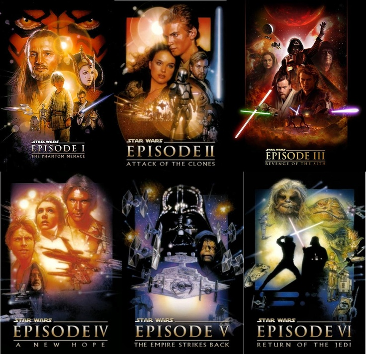 star wars episodes 1 6 star wars movies posters pinterest star wars episodes the o 39 jays. Black Bedroom Furniture Sets. Home Design Ideas