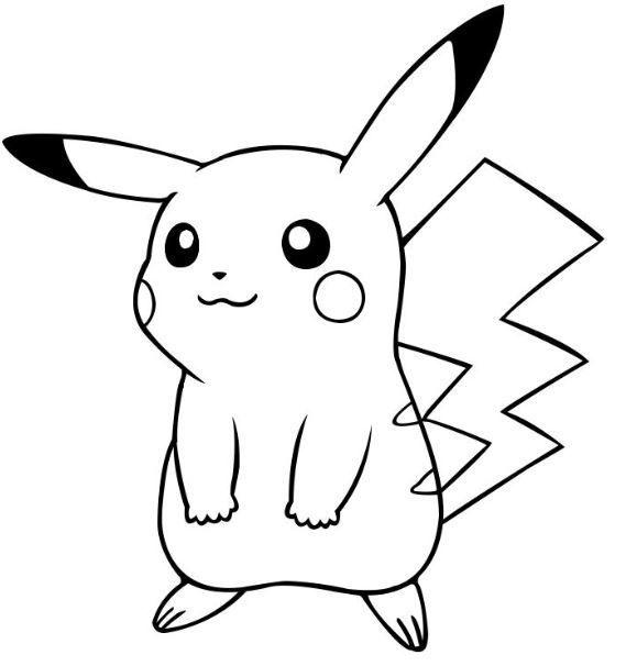 Pikachu Tierno Para Colorear Dengan Gambar Kartun Animasi Gambar