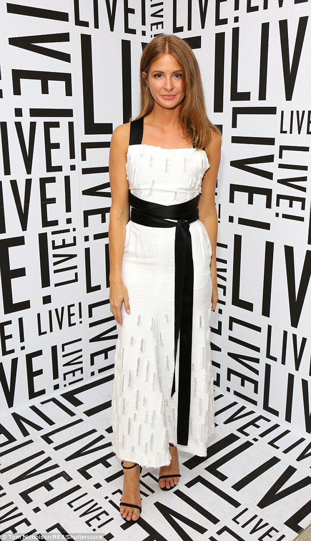 Dressed to impress: Millie Mackintosh turned heads in a black and white ensemble as sheattended the Live! clothing store launch bash at London's Soho Hotel on Tuesday evening