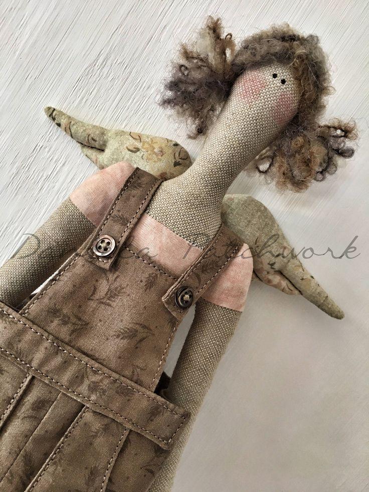 Tilda doll - Bambola country - Bambola di pezza - Bambola di stoffa di DanielaPatchwork su Etsy