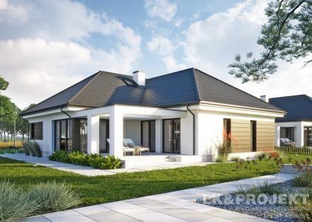 Projekty domów LK Projekt LK&1332 - http://lk-projekt.pl/lkand1332-produkt-9661.html
