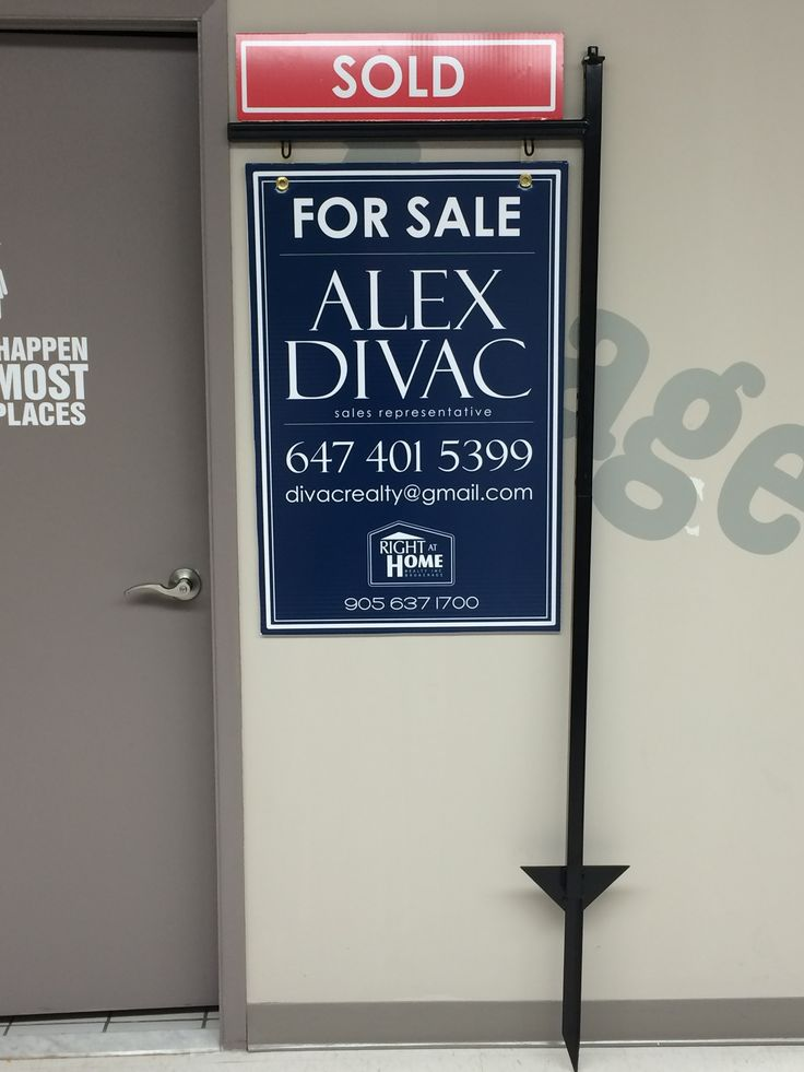 Right at Home- Custom Design Real Estate sign on Coroplast by Speedpro Imaging Burloak!