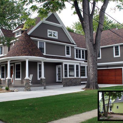 Brown Roof Brown Body White Trim Houses Pinterest