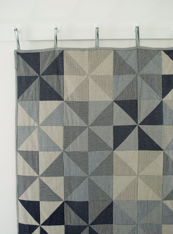 Corinne's Thread: Denim PinwheelQuilt - The Purl Bee - Knitting Crochet Sewing Embroidery Crafts Patterns and Ideas!