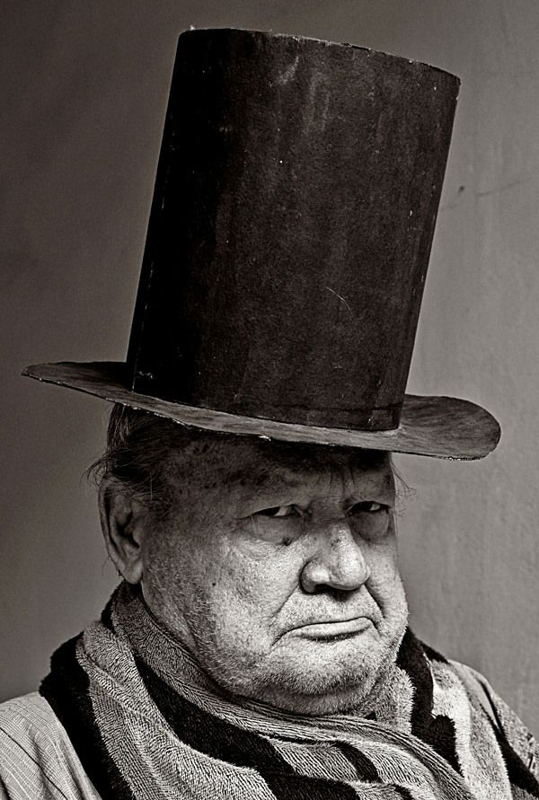 Old man in top hat
