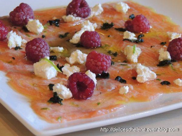carpaccio de saumon, feta et framboises (2)