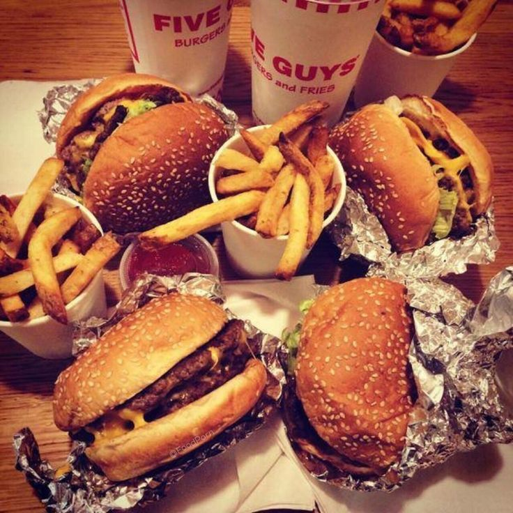 Burgers & fries from @Five_Guys #FoodPorn It's time to throw down!