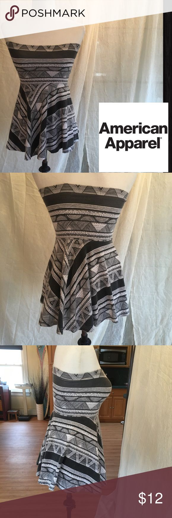 American Apparel Aztec Mini Dress or Skirt Sz M Please refer to my description for the purple AA dress. This is of Aztec pattern and the Sz is a Medium. American Apparel Dresses Strapless