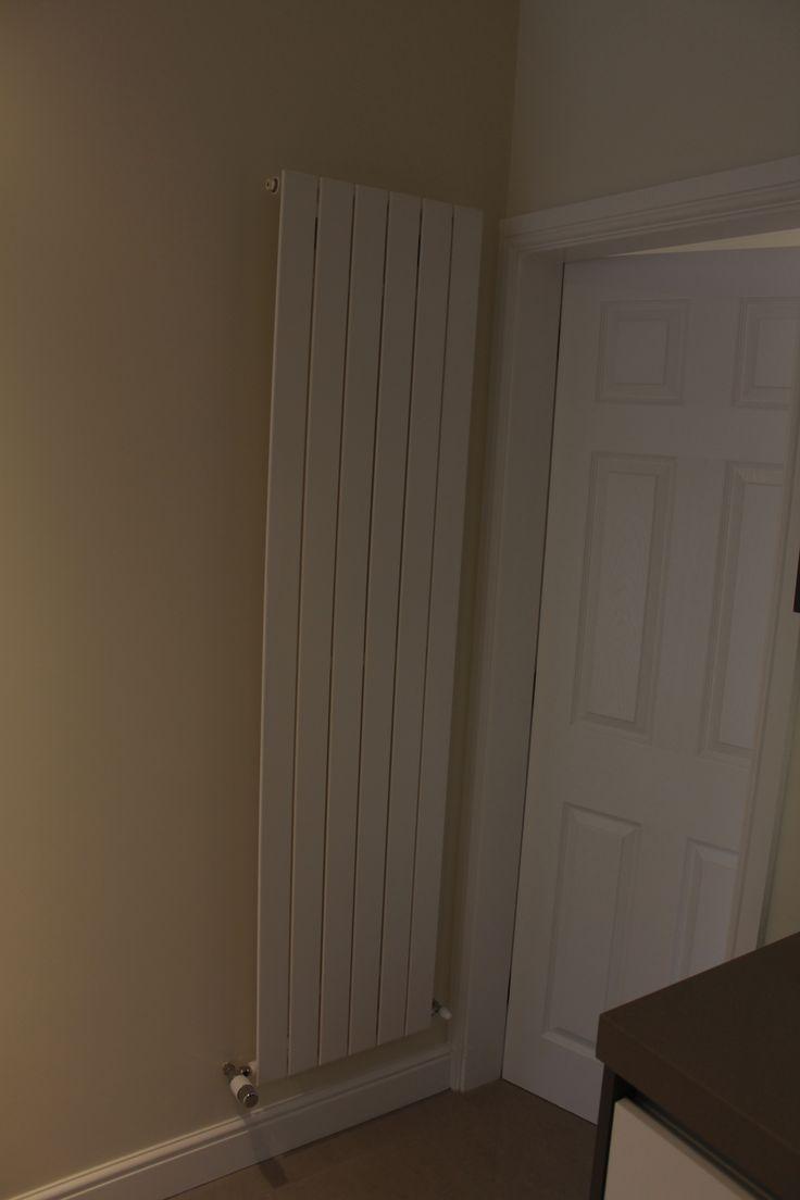Very slim vertical radiator.
