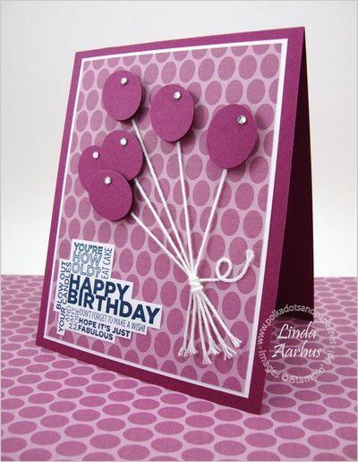 Happy BirthdayBalloon Punch Art, Cards Birthday, Birthdays, Cards Pap Crafts, Cards Balloons, Happy Birthday Cards, Cards Cards, Paper Crafts, Cards Idease Sitting